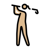 Woman Golfing: Medium-Light Skin Tone on OpenMoji 12.0