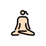 Woman in Lotus Position: Light Skin Tone on OpenMoji 12.0