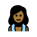 Woman in Steamy Room: Medium-Dark Skin Tone on OpenMoji 12.0
