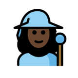 Woman Mage: Dark Skin Tone on OpenMoji 12.0