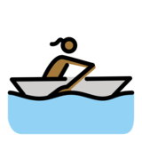 Woman Rowing Boat: Medium-Dark Skin Tone on OpenMoji 12.0