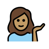 Woman Tipping Hand: Medium Skin Tone on OpenMoji 12.0