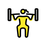 Woman Lifting Weights on OpenMoji 12.0