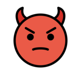 Angry Face with Horns on OpenMoji 12.2