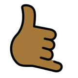 Call Me Hand: Medium-Dark Skin Tone on OpenMoji 12.2