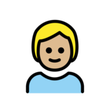 Child: Medium-Light Skin Tone on OpenMoji 12.2