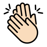 Clapping Hands: Light Skin Tone on OpenMoji 12.2