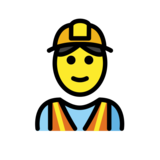 Construction Worker on OpenMoji 12.2