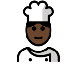 Cook: Dark Skin Tone on OpenMoji 12.2