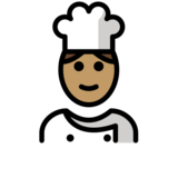 Cook: Medium Skin Tone on OpenMoji 12.2