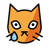 Crying Cat on OpenMoji 12.2