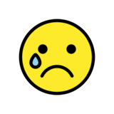 Crying Face on OpenMoji 12.2