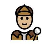 Detective: Medium-Light Skin Tone on OpenMoji 12.2