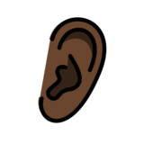 Ear: Dark Skin Tone on OpenMoji 12.2