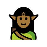 Elf: Medium-Dark Skin Tone on OpenMoji 12.2