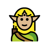 Elf: Medium-Light Skin Tone on OpenMoji 12.2