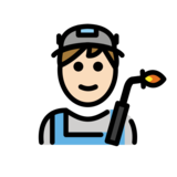 Factory Worker: Light Skin Tone on OpenMoji 12.2