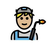 Factory Worker: Medium-Light Skin Tone on OpenMoji 12.2