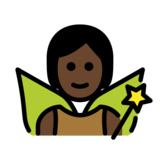 Fairy: Dark Skin Tone on OpenMoji 12.2