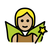 Fairy: Medium-Light Skin Tone on OpenMoji 12.2