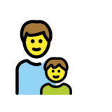 Family: Man, Boy on OpenMoji 12.2