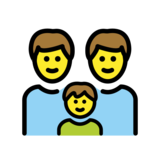 Family: Man, Man, Boy on OpenMoji 12.2