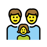 Family: Man, Man, Girl on OpenMoji 12.2