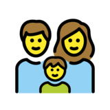 Family: Man, Woman, Boy on OpenMoji 12.2