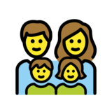 Family: Man, Woman, Girl, Boy on OpenMoji 12.2