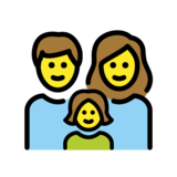 Family: Man, Woman, Girl on OpenMoji 12.2