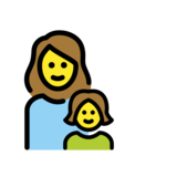 Family: Woman, Girl on OpenMoji 12.2