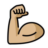 Flexed Biceps: Medium-Light Skin Tone on OpenMoji 12.2