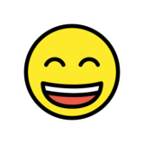 Grinning Face with Smiling Eyes on OpenMoji 12.2