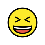 Grinning Squinting Face on OpenMoji 12.2