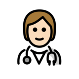 Health Worker: Light Skin Tone on OpenMoji 12.2