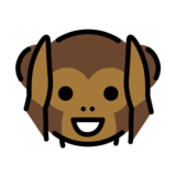 Hear-No-Evil Monkey on OpenMoji 12.2