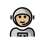 Man Astronaut: Medium-Light Skin Tone on OpenMoji 12.2