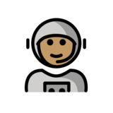 Man Astronaut: Medium Skin Tone on OpenMoji 12.2