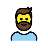 Man: Beard on OpenMoji 12.2