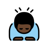 Man Bowing: Dark Skin Tone on OpenMoji 12.2