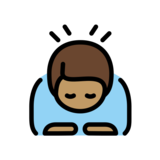 Man Bowing: Medium Skin Tone on OpenMoji 12.2
