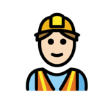Man Construction Worker: Light Skin Tone on OpenMoji 12.2