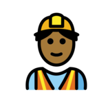 Man Construction Worker: Medium-Dark Skin Tone on OpenMoji 12.2