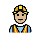 Man Construction Worker: Medium-Light Skin Tone on OpenMoji 12.2