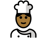 Man Cook: Medium-Dark Skin Tone on OpenMoji 12.2