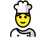 Man Cook on OpenMoji 12.2