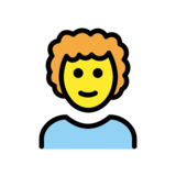 Man: Curly Hair on OpenMoji 12.2