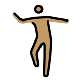 Man Dancing: Medium Skin Tone on OpenMoji 12.2