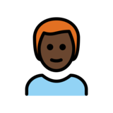Man: Dark Skin Tone, Red Hair on OpenMoji 12.2