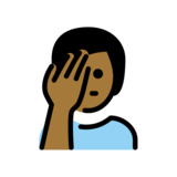 Man Facepalming: Medium-Dark Skin Tone on OpenMoji 12.2